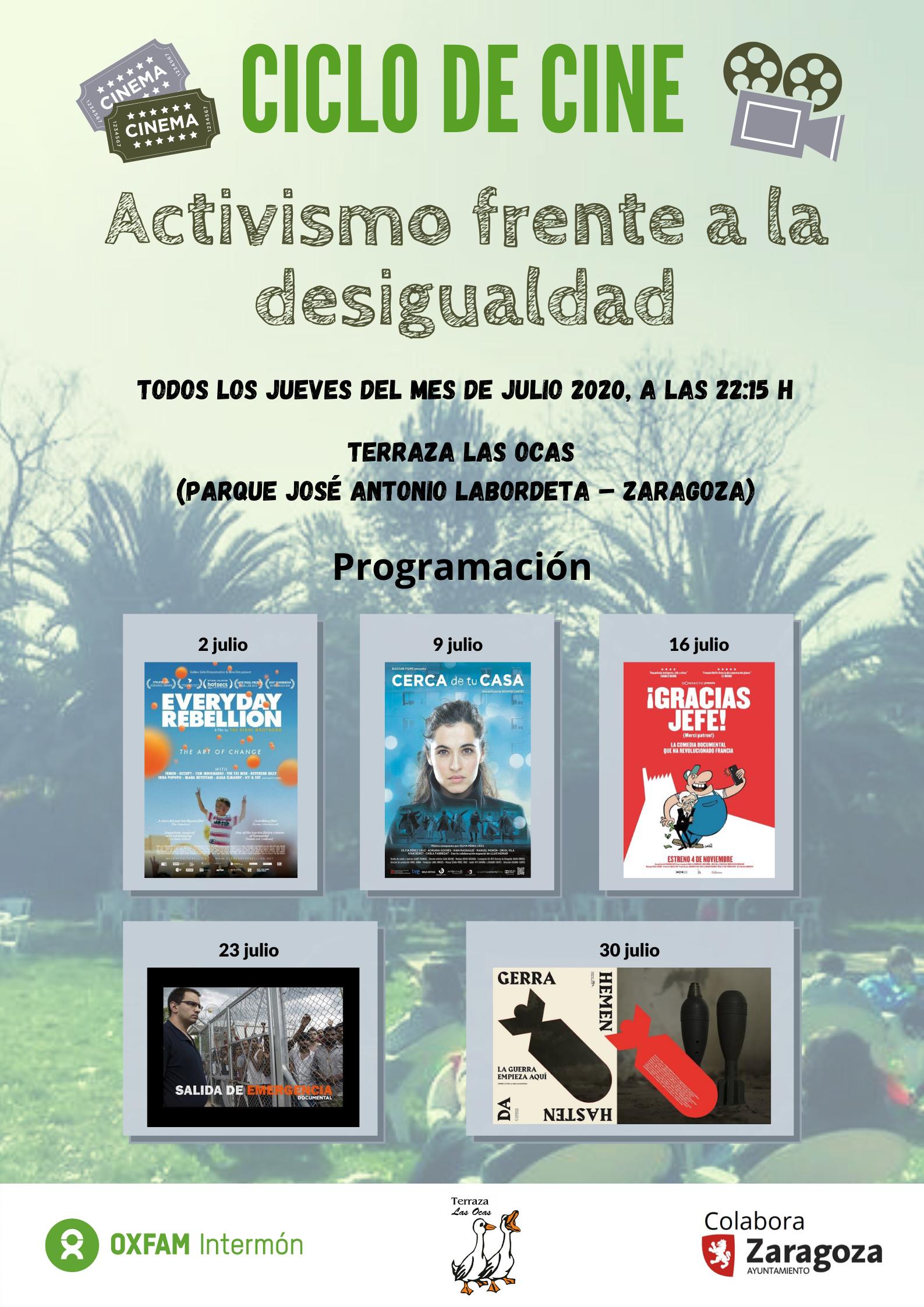 Terraza Las Ocas estrena: Activismo frente a la desigualdad ¡SUSPENDIDO!